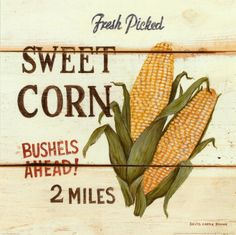 "Fresh Picked Sweet Corn by David Carter Brown 12"" x 12""   $10.99"