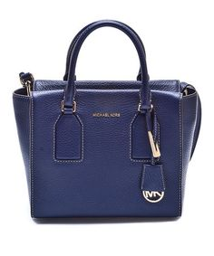 Love this Navy Selby Leather Satchel on #zulily! #zulilyfinds