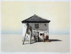 "yama-bato: "" Hodaka Yoshida White House - X. Japanese Prints, Japanese Art, Japanese Style, Japanese Painting, 2d Art, Woodblock Print, Contemporary Artists, Painting Inspiration, Home Art"
