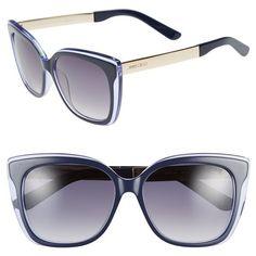 Jimmy Choo 'Octav' 55mm Retro Sunglasses ($365) ❤ liked on Polyvore
