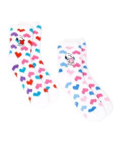 f7a625f41b Ashko Multicolor Peanuts Snoopy Hearts Two-Pair Socks Set - Kids