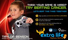 Register now for Extra Life 2014 and play games to help raise money for East Tennessee Children's Hospital. http://www.etch.com/extralife
