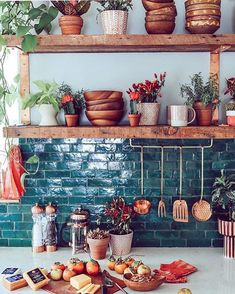 70 Ideas to Create Rustic Bohemian Kitchen Decorations
