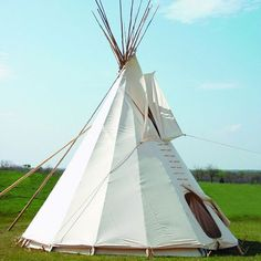 Check out the deal on Canvas Tipi with Cover, Door & Liner, Sunforger Flame Redardant Material at Crazy Crow Trading Post Native American Crafts, Native American Indians, Cabana, John Boats, Go Camping, Camping Hacks, Camping Ideas, Luxury Camping, Outdoor Movie Nights