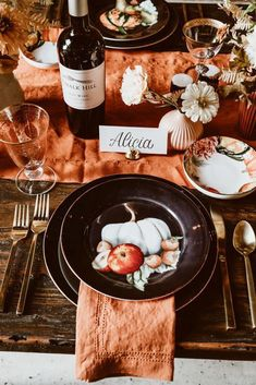 Avoid any unnecessary holiday drama by making sure you have total control of the seating arrangements this Thanksgiving—and that starts with place cards. You could buy some, but these DIY options help add a personal touch. Not only will these Thanksgiving place cards beautify your table, but with props like rosemary and clementines, they'll also make the whole room smell amazing. Keep reading for 19 beautiful ideas. #diyideas #placecards #thanksgiving
