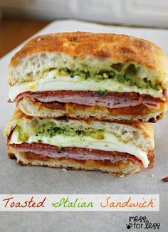Toasted Italian Sandwich - Food Fun Friday