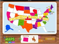 Kids Maps App - Geography puzzle app for kids 6 and younger.