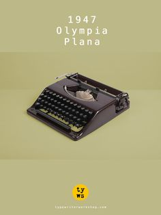The first German flat typewriter: meet the Olympia Plana!