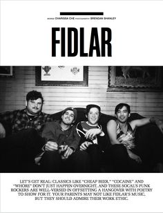 Los Angeles rockers FIDLAR meet with SOUNDS before their show at Brooklyn's famous Glasslands to explain their formation and their overall musical approach as a band. Watch their very first SOUNDS Q&A here: https://vimeo.com/69747094 AND download the magazine here: https://itunes.apple.com/us/app/project-sounds-for-ipad/id509151611?mt=8
