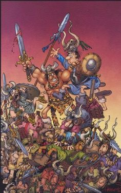 Conan Pinup by Sergio Aragones Comic Art