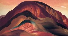 "Georgia O Keeffe's Most Famous Painting | Keeffe's ""Rust Red Hills."" Click through for image source."