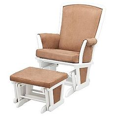 ECLIPSE UPHOLSTERED GLIDER AND OTTOMAN IN WHITE- Delta Childrens - Sears