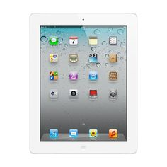 Apple - Refurbished iPad 2 with Wi-Fi + Cellular - 32GB (At&t) - White, MC983LL/A