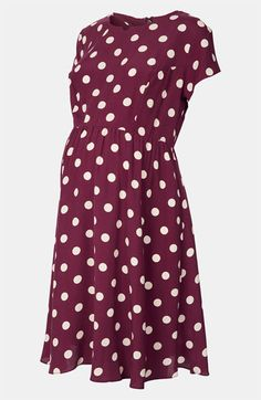 Topshop Maternity 'Florence' Polka Dot Dress | Nordstrom