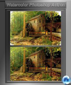 Watercolor Photoshop Action - Download…
