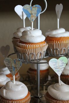 Cupcake toppers: with current city, with future city, with both Goodbye Party, Goodbye Gifts, Future City, Retirement Parties, Grad Parties, Going Away Cupcakes, Moving Away Parties, Leaving Party, Bon Voyage Party