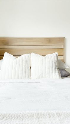 Learn how to build a cool modern headboard! My daughter found a headboard from Urban Outfitters that she loved and asked me if I could build it for her. Room Decor Bedroom, Home Bedroom, Bedroom Furniture, Home Furniture, Bedrooms, Diy Bed Headboard, Modern Headboard, Headboards For Beds Diy, Headboard Ideas