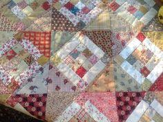Quiltstofjes Assortie met patroontje van het 9 patch blokje   Quiltstof pakketjes   Atelier Bep