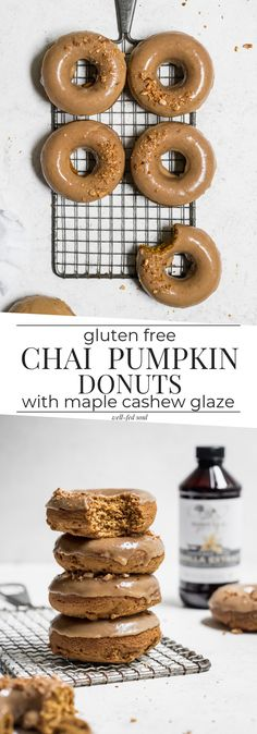 Gluten Free Chai Pumpkin Donuts & Maple Cashew Glaze | Well Fed Soul