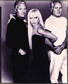 Gianni Versace and his brother, Santo, and his sister, Donatella. They have taken over the Versace empire after his murder.