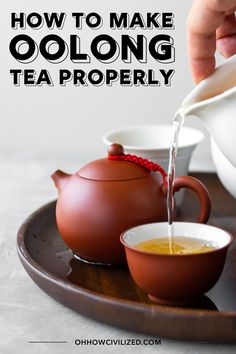 See step-by-step instructions with photos on how to make oolong tea the proper way using a clay teapot. You'll be surprised at how good oolong tea can taste using this traditional method. Green Tea Detox, Detox Tea, Best Herbal Tea, Herbal Teas, Oolong Tea Benefits, Best Matcha Tea, Milk Tea Recipes, Pu Erh Tea, Buy Tea