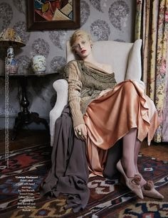 """The Terrier and Lobster: """"The Lighthouse"""": Virginia Woolf and Bloomsbury Group-Inspired Shoot with Julia Nobis by Ben Toms for AnOther Magaz..."""