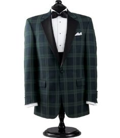 Blackwatch Notch Collar Dinner Jacket--No to the pleated shirt Mens Dinner Jacket, Mens Tuxedo Jacket, Tuxedo For Men, Tuxedo Jackets, Dinner Jackets, Pleated Shirt, Latest Mens Fashion, Black Suits, Jacket Style