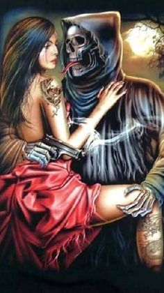 Couple Skull DIY Full Drill Diamond Painting Square Embroidery Cross Stitch Kit Rhinestone Home Decor Craft Dark Fantasy Art, Dark Art, Tattoo Studio, Grim Reaper Art, Skulls And Roses, Chicano Art, The Grim, Gothic Art, Dark Horse