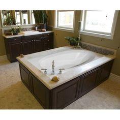 "Hydro Systems Designer Ovation 60"" x 42"" Whirlpool Bathtub Finish: White"