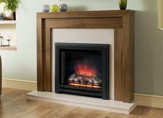 Evesham walnut fireplace