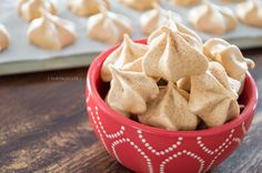 These Cinnamon Maple Meringue Cookie Recipe will surprise you (with how easy they are to make). They're gluten free and fat free and taste amazing.