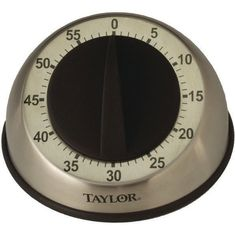 Taylor Stainless Steel 5Star Easy Grip Mechanical Kitchen Timer Soft Rubber Knob #Taylor