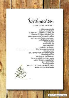 Druck/Wandbild/Print:+Segenswunsch+-+Weihnachten+von+Die+Persönliche+Note+auf+DaWanda.com: