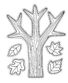 Autumn / Fall Preschool No Prep Worksheets & Activities. Owl, branch and leaves cutting practice (make a mobile). Autumn Crafts, Autumn Art, Autumn Trees, Fall Preschool, Preschool Crafts, Autumn Activities, Craft Activities, Art For Kids, Crafts For Kids