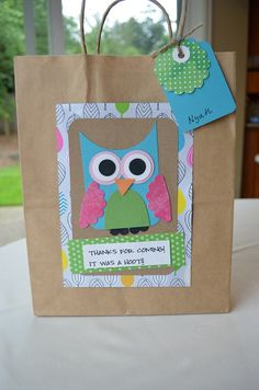 Posts about Owl written by Laurel Lane Crafts Owl Party Favors, Party Gift Bags, Party Gifts, Owl Parties, Owl Birthday Parties, Birthday Decorations, Party Planning, Party Time, First Birthdays
