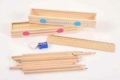 Wooden pencil cases for Cycladic Museum Shop! Production & Patent : Prepack Design : Xara Marantidou