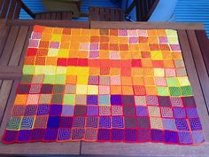 Ravelry: Daily Temperature Blanket pattern by Clare Thornley