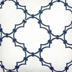 Quatrefoil Fabric in Navy from @COCOCOZY #fabric #linen #blue