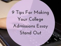 Need help with a high school admission essay.?