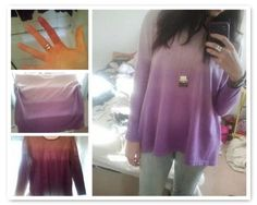 DIY Dip Dye  : DIY Ombre Dip-Dye Jumper DIY clothes DIY Refashion