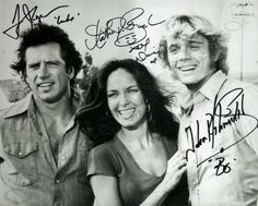 The Dukes of Hazzard Cast Photo Autographed / Signed by Tom Wopat, John Schneider, Catherine Bach