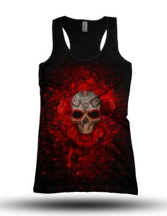 Rose Skull tank top by Digoil Renowned