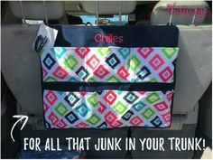 When you got a little too much junk in the trunk get yourself a Hang It Up Organizer from Thirty One www.mythirtyone.com/bethcasebolt