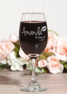 These customizable wine glasses from etsy make a super adorable and affordable bridesmaid gift!