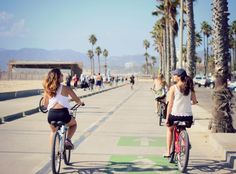 Health and wellness in Santa Monica is as easy as taking a (beautiful) bike ride along the beach.
