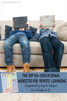 Looking for good educational websites for distance learning? These 50+ educational websites for remote learning come with a FREE printable and are organized by subject and grade level! Perfect for at home learning! #homeschooling #remotelearning #distancelearning #onlineschool #schoolonline #educationalwebsites #learningonline #freeprintable