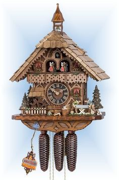 Hones | 86258t | 19''H | Sawyers Mill | Chalet style | cuckoo clock | full view