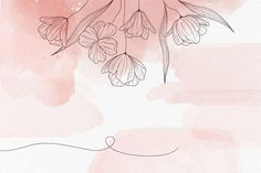 Download Soft Pastel Background With Flowers for free