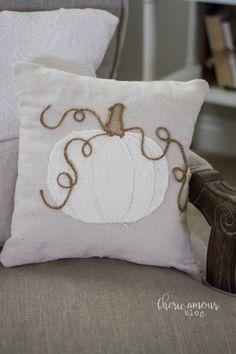 Pumpkin Pillows, Diy Pumpkin, Fall Pillows, Diy Pillows, Decorative Pillows, Throw Pillows, Drop Cloth Projects, Fall Sewing, Sewing Pillows