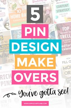 One of the best ways to get ideas for your pins is to see what other people do.  But I've gone one step better!  I've done pin design makeovers on five volunteer's pins to give them a fresh look and a better chance of getting those all-important clicks on Pinterest.  Check out what I did and why! #pinmakeover #pinterestdesign #pindesign Pinterest Design, Pinterest Images, Pinterest Pin, Graphic Design Fonts, Design Tutorials, Diy Design, Design Ideas, Pinterest For Business, Social Media Graphics